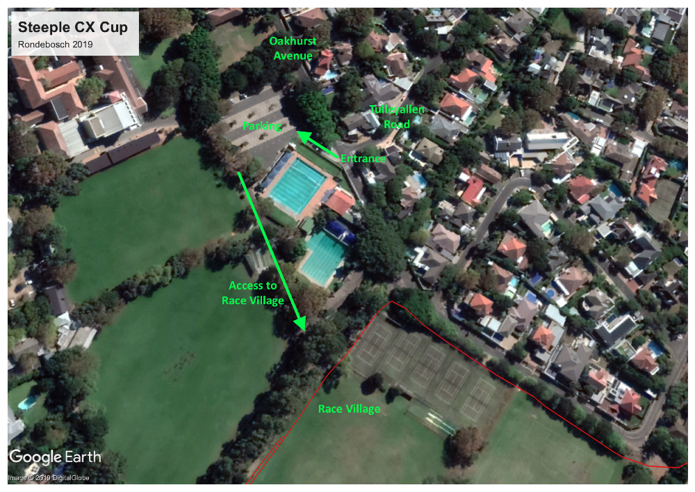 Steeple CX Cup Rondebosch 2019 Venue Map